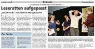 Sonntags-Report Juli 2011